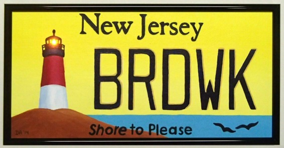 New Jersey Lighthouse License Plate